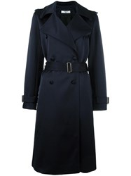 Lanvin Belted Trench Coat Blue