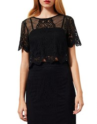 Miss Selfridge Scalloped Lace Crop Top
