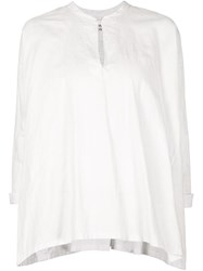 Arts And Science Smocked Back Detail Blouse White