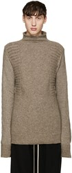 Rick Owens Taupe Textured Turtleneck