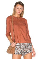 Amuse Society Harmony Woven Top Rust