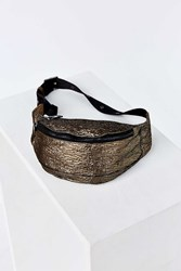 Urban Outfitters Metallic Belt Bag Silver