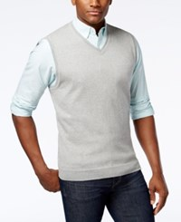 Club Room Men's Sweater Vest Only At Macy's Light Grey Heather