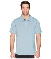 Marmot Wallace Polo Blue Granite Heather Short Sleeve Pullover