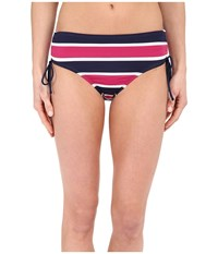 Tommy Bahama Nautical Tie Side High Waist Pants Mare Navy Women's Swimwear