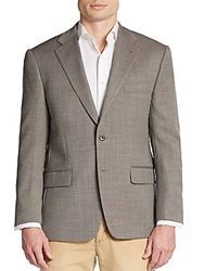 Tailorbyrd Regular Fit Birdseye Wool Blend Sportcoat Neutral