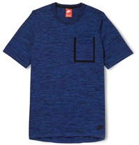 Nike Slim Fit Knitted Cotton Blend T Shirt Blue
