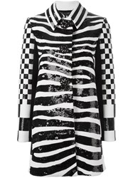Marc Jacobs Zebra Print Coat Black