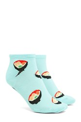 Forever 21 Udon Soup Ankle Socks Mint Multi