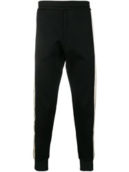 Alexander Mcqueen Racer Stripe Sweatpants Black