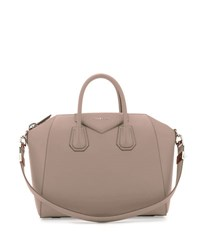 Givenchy Antigona Medium Leather Satchel Bag Gray