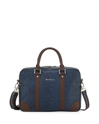 Robert Graham Fierden Paisley Print Briefcase Bag Blue