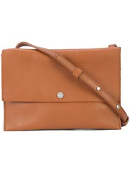 Shinola Flap Crossbody Bag Brown