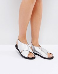 Warehouse Crossover Sandal Silver