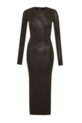 French Connection Sweeter Sweater Bodycon Midi Dress Green