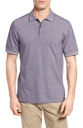 Nordstrom Men's Big And Tall Men's Shop Classic Regular Fit Oxford Pique Polo Pink Shore Navy Oxford