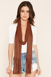 Forever 21 Faux Suede Fringed Scarf