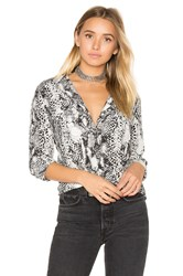 Equipment Slim Signature Snake Print Button Up Black And White