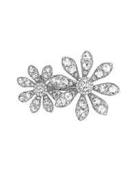Aster Collection 18K White Gold Diamond Double Flower Ring Maria Canale For Forevermark White Gold