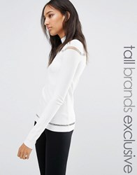 One Day Tall Jumper With Cage Detail White
