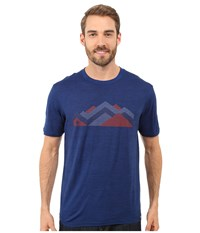 Smartwool Mountain Range Tee Deep Navy Men's T Shirt