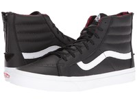 Vans Sk8 Hi Slim Zip Plaid Flannel Black True White Skate Shoes