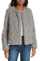 Milly Faux Fur Jacket Grey