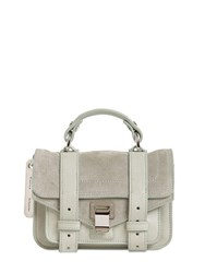Proenza Schouler Ps1 Micro Suede And Leather Bag Celadon