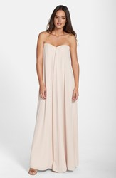 Women's Paper Crown By Lauren Conrad 'Natalie' Crepe Gown Silver Peony