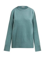 The Row Sibel Wool And Cashmere Blend Sweater Mid Green