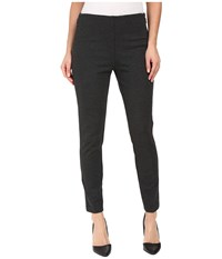 Ivanka Trump Ponte Pants With Side Zippers Heather Charcoal Women's Casual Pants Gray