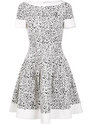 Carolina Herrera Splatter Paint Print Dress Black
