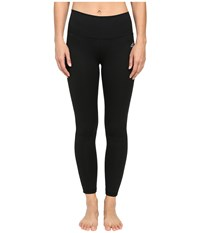 Adidas Performer Mid Rise Long Tights Black Matte Silver Women's Workout