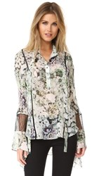 Nicholas Evergreen Batwing Blouse Evergreen Floral