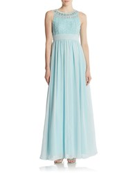 Js Collections Cage Top Chiffon Gown