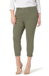 Nydj Plus Size Women's Alex Roll Cuff Ankle Pants Topiary