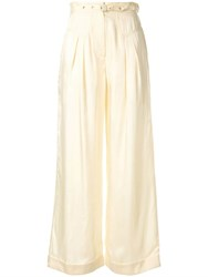 Alice Mccall Favour Wide Leg Trousers Neutrals