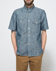 Rogue Territory Short Sleeve Work Shirt Natural Indigo