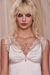 Serena Jeweled Body Chain Gold