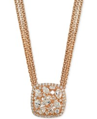 Giani Bernini Crystal Cluster Multi Chain Pendant Necklace Created For Macy's Rose Gold
