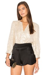 Elizabeth And James Shelly Top Metallic Gold