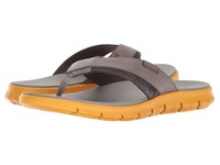 Cole Haan Zerogrand Fold Thong Ironstone Sunglow Men's Sandals Pewter