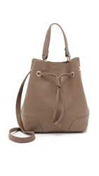 Furla Stacy Small Drawstring Bucket Bag Taupe