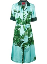 F.R.S For Restless Sleepers Meti Safari Dress Women Silk Xs Green