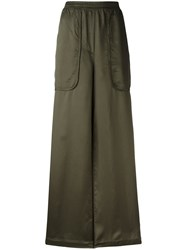 Nude Flared Pants Green