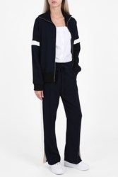 Atea Oceanie Women S Flared Track Trousers Boutique1 Navy