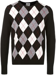 Valentino Geometric Embroidered Sweater Men Virgin Wool M Black