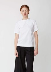 Simone Rocha T Shirt With Embroidered Collar White