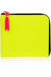 Comme Des Gar Ons Neon Leather Wallet