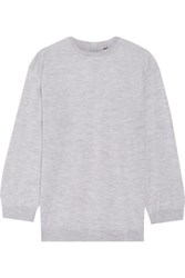 Adam By Adam Lippes Cashmere And Silk Blend Sweater Light Gray